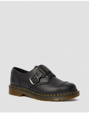 1461 QUYNN SMOOTH LEATHER BUCKLE SHOES - BLACK SMOOTH