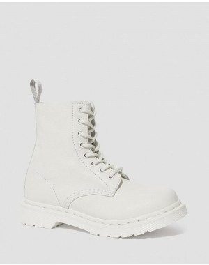 1460 PASCAL WOMEN'S MONO LACE UP BOOTS - OPTICAL WHITE VIRGINIA