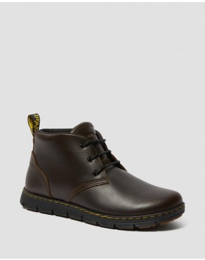 RHODES MEN'S LEATHER CHUKKA BOOTS - BROWN BERKLEY