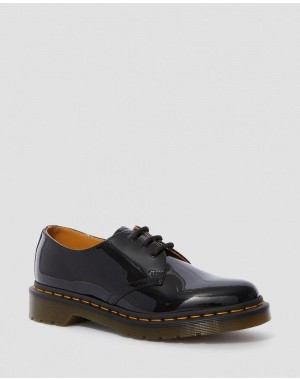 1461 PATENT WOMEN'S LEATHER OXFORD SHOES - BLACK PATENT LAMPER