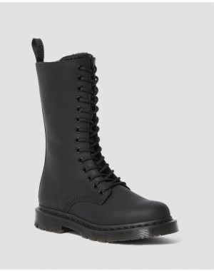 1914 WOMEN'S DM'S WINTERGRIP TALL BOOTS - BLACK SNOWPLOW