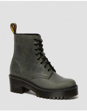 SHRIVER HI WOMEN'S MOLDOVA LEATHER HEELED BOOTS - SLATE MOLDOVA