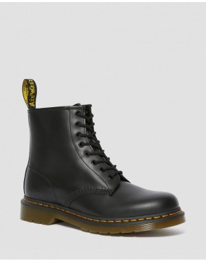1460 SMOOTH LEATHER LACE UP BOOTS - BLACK SMOOTH