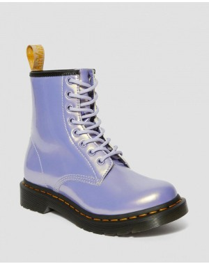 VEGAN 1460 WOMEN'S OPALINE LACE UP BOOTS - PURPLE HEATHER OPALINE