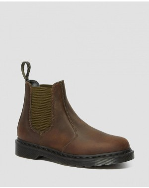 2976 POP CRAZY HORSE LEATHER CHELSEA BOOTS - GAUCHO CRAZY HORSE