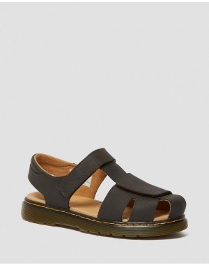 YOUTH MOBY II WILDHORSE LEATHER VELCRO SANDALS - GAUCHO WILDHORSE LAMPER