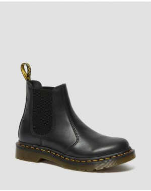 2976 WOMEN'S WANAMA LEATHER CHELSEA BOOTS - BLACK WANAMA