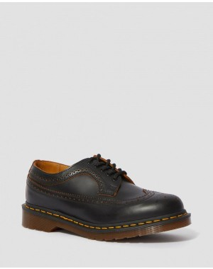 3989 VINTAGE MADE IN ENGLAND BROGUE SHOES - BLACK QUILON