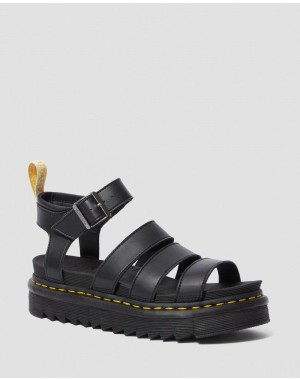 VEGAN BLAIRE WOMEN'S FELIX GLADIATOR SANDALS - BLACK FELIX RUB OFF