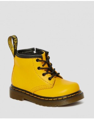 INFANT 1460 LEATHER LACE UP BOOTS - YELLOW ROMARIO