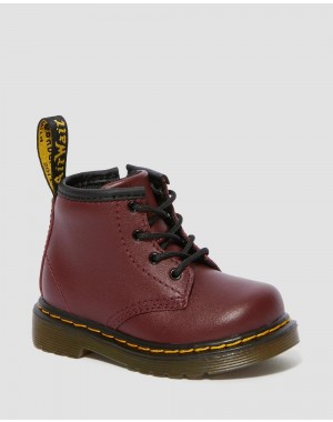 INFANT 1460 SOFTY T LEATHER LACE UP BOOTS - CHERRY RED SOFTY T