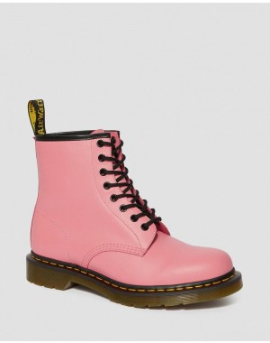 1460 SMOOTH LEATHER LACE UP BOOTS - ACID PINK SMOOTH