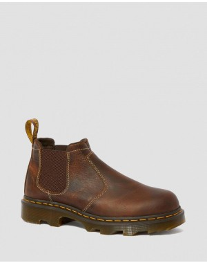 PENLY LIGHTWEIGHT CHELSEA WORK BOOTS - TAN GREENLAND