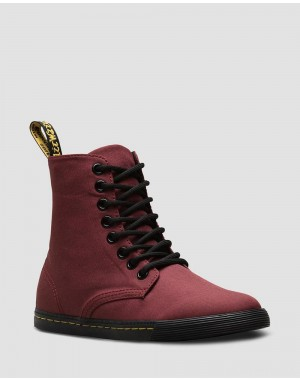 JUNIOR SHERIDAN CANVAS CASUAL BOOTS - CHERRY RED T CANVAS