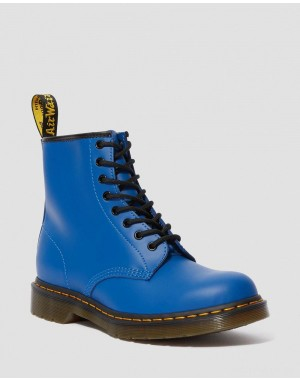 1460 SMOOTH LEATHER LACE UP BOOTS - BLUE SMOOTH
