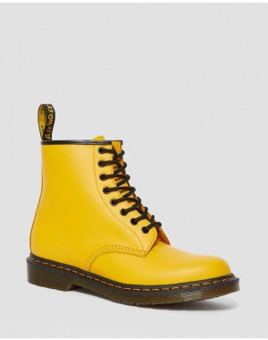 1460 SMOOTH LEATHER LACE UP BOOTS - YELLOW SMOOTH