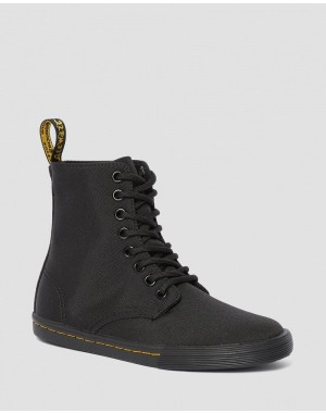 JUNIOR SHERIDAN CANVAS CASUAL BOOTS - BLACK T CANVAS