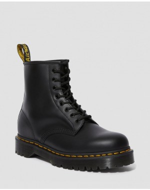 1460 BEX SMOOTH LEATHER PLATFORM BOOTS - BLACK SMOOTH