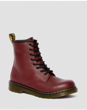 YOUTH 1460 SOFTY T LEATHER LACE UP BOOTS - CHERRY RED SOFTY T