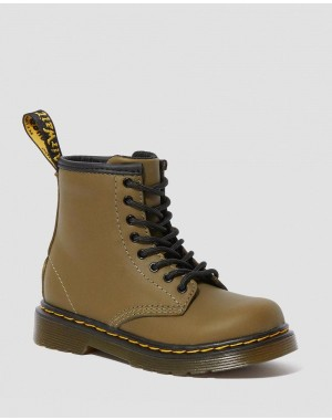 TODDLER 1460 LEATHER LACE UP BOOTS - DMS OLIVE ROMARIO