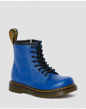 TODDLER 1460 LEATHER LACE UP BOOTS - BLUE ROMARIO
