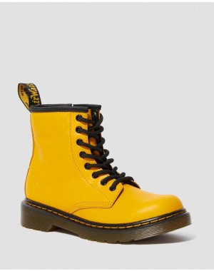 JUNIOR 1460 LEATHER LACE UP BOOTS - YELLOW ROMARIO