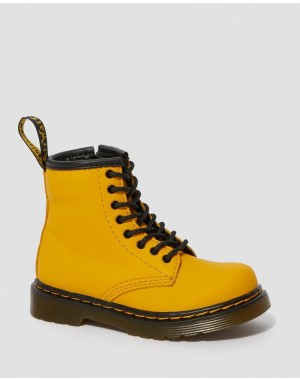 TODDLER 1460 LEATHER LACE UP BOOTS - YELLOW ROMARIO