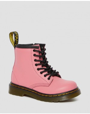 TODDLER 1460 LEATHER LACE UP BOOTS - ACID PINK ROMARIO