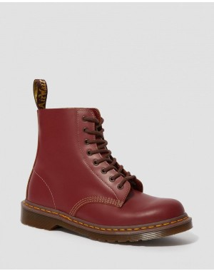 1460 VINTAGE MADE IN ENGLAND LACE UP BOOTS - OXBLOOD QUILON