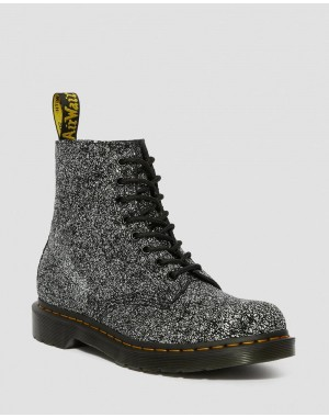 1460 PASCAL LEATHER SPLATTER PRINT BOOTS - BLACK SPLATTER CHAOS