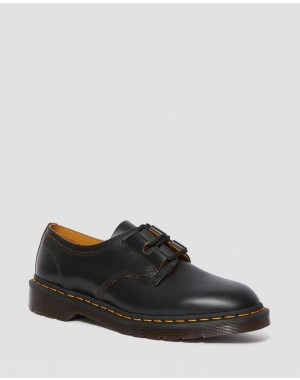1461 GHILLIE LEATHER OXFORD SHOES - BLACK VINTAGE SMOOTH