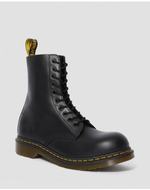 1919 LEATHER MID CALF BOOTS - BLACK FINE HAIRCELL