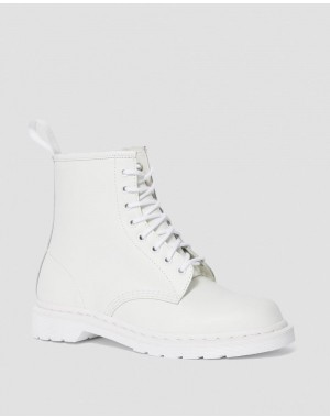 1460 MONO SMOOTH LEATHER LACE UP BOOTS - WHITE SMOOTH