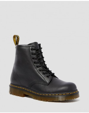 1460 SLIP RESISTANT LEATHER LACE UP BOOTS - BLACK INDUSTRIAL FULL GRAIN