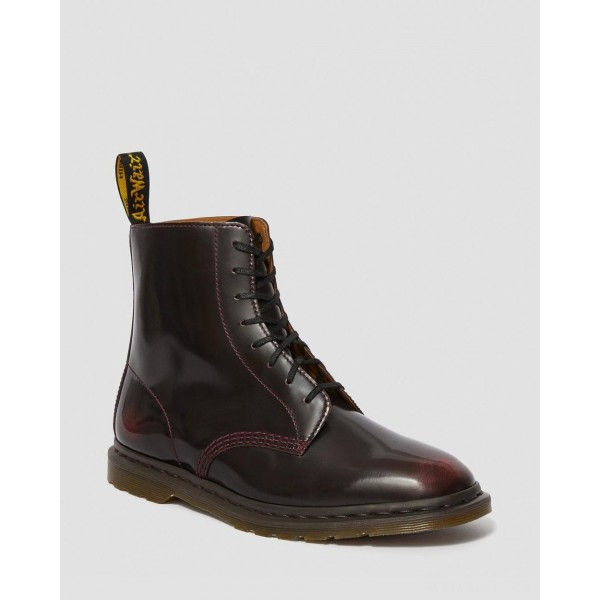 WINCHESTER II ARCADIA LEATHER LACE UP BOOTS - CHERRY RED ARCADIA