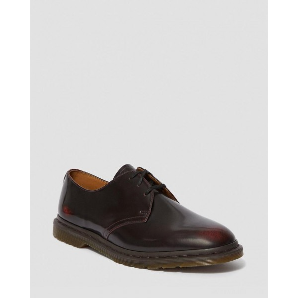 ARCHIE II ARCADIA LEATHER LACE UP SHOES - CHERRY RED ARCADIA