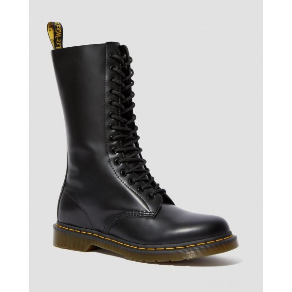 1914 SMOOTH LEATHER TALL BOOTS - BLACK SMOOTH