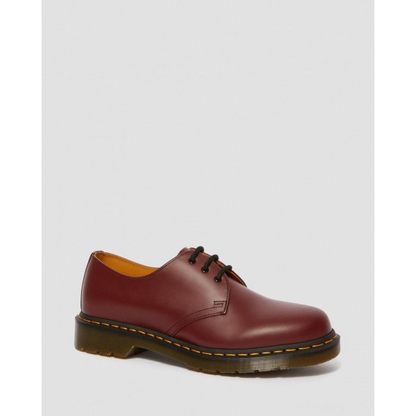 1461 SMOOTH LEATHER OXFORD SHOES - CHERRY RED SMOOTH