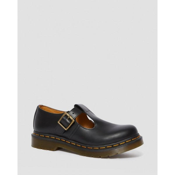POLLEY SMOOTH LEATHER MARY JANES - BLACK SMOOTH