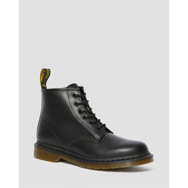 101 SMOOTH LEATHER ANKLE BOOTS - BLACK SMOOTH