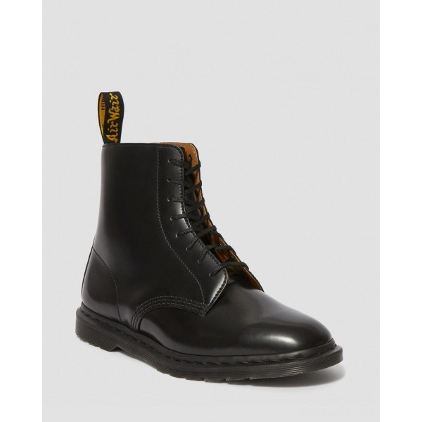 WINCHESTER II MEN'S LEATHER DRESS BOOTS - BLACK POLISHED SMOOTH
