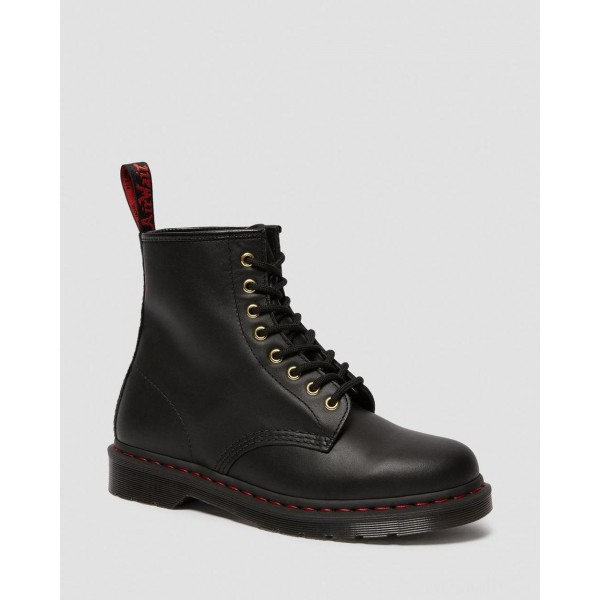 1460 CHINESE NEW YEAR LEATHER LACE UP BOOTS - BLACK NAPPA-HAIR ON