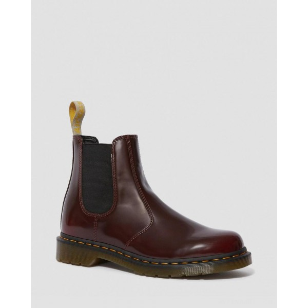 VEGAN 2976 CHELSEA BOOTS - CHERRY RED OXFORD RUB OFF