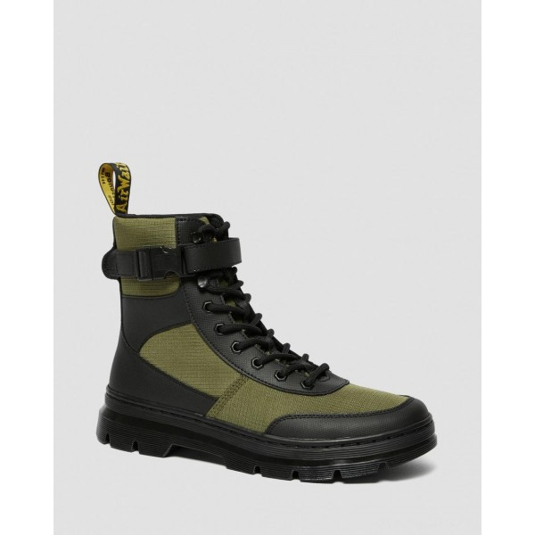 COMBS TECH POLY CASUAL BOOTS - BLACK-DMS OLIVE ELEMENT-POLY RIP STOP