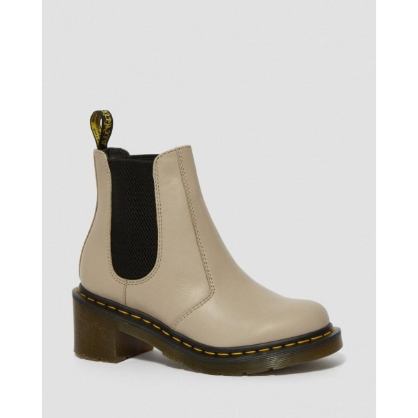 CADENCE WOMEN'S LEATHER HEELED CHELSEA BOOTS - NATURAL WANAMA