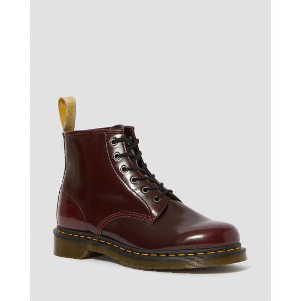 VEGAN 101 ANKLE BOOTS - CHERRY RED OXFORD RUB OFF