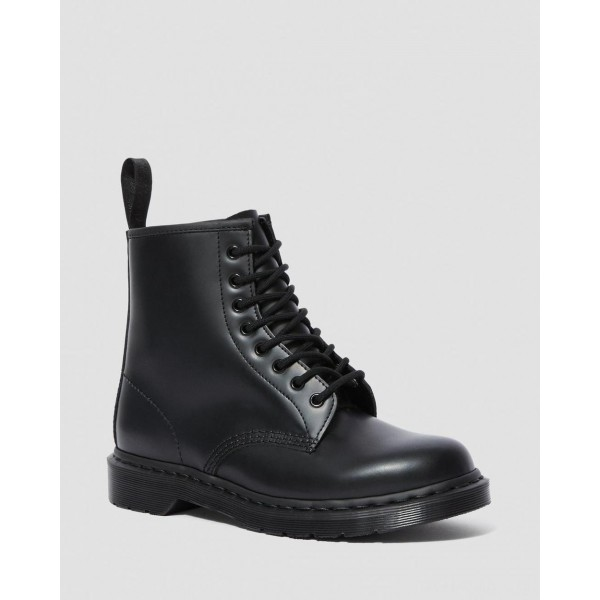 1460 MONO SMOOTH LEATHER LACE UP BOOTS - BLACK SMOOTH
