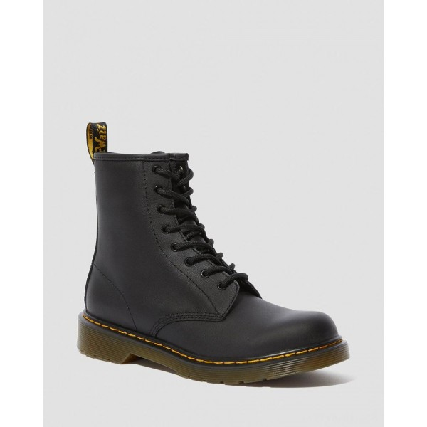 YOUTH 1460 SOFTY T LEATHER LACE UP BOOTS - BLACK SOFTY T