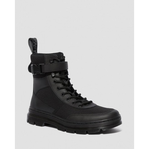 COMBS TECH POLY CASUAL BOOTS - BLACK ELEMENT-POLY RIP STOP