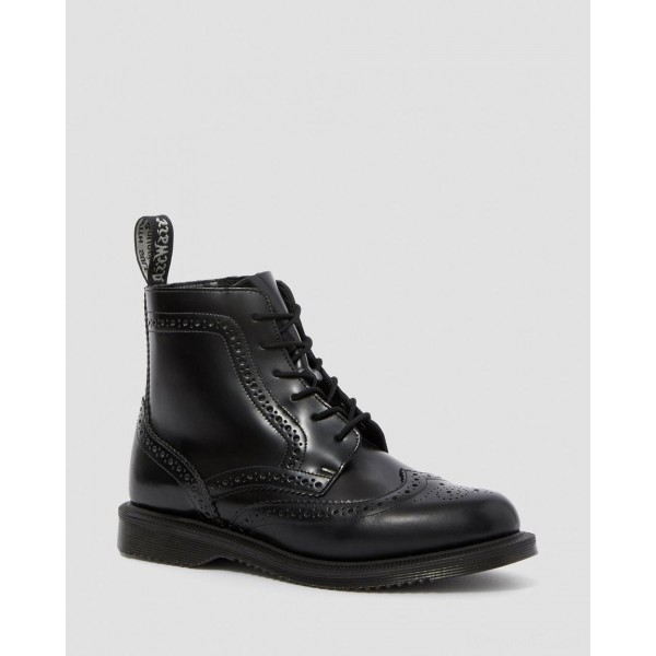 DELPHINE SMOOTH WOMEN'S DRESS BOOTS - BLACK POLISHED SMOOTH